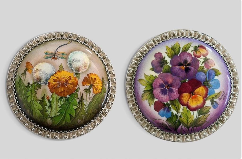 Finift bijoux emailles russe art decoratif souvenirs