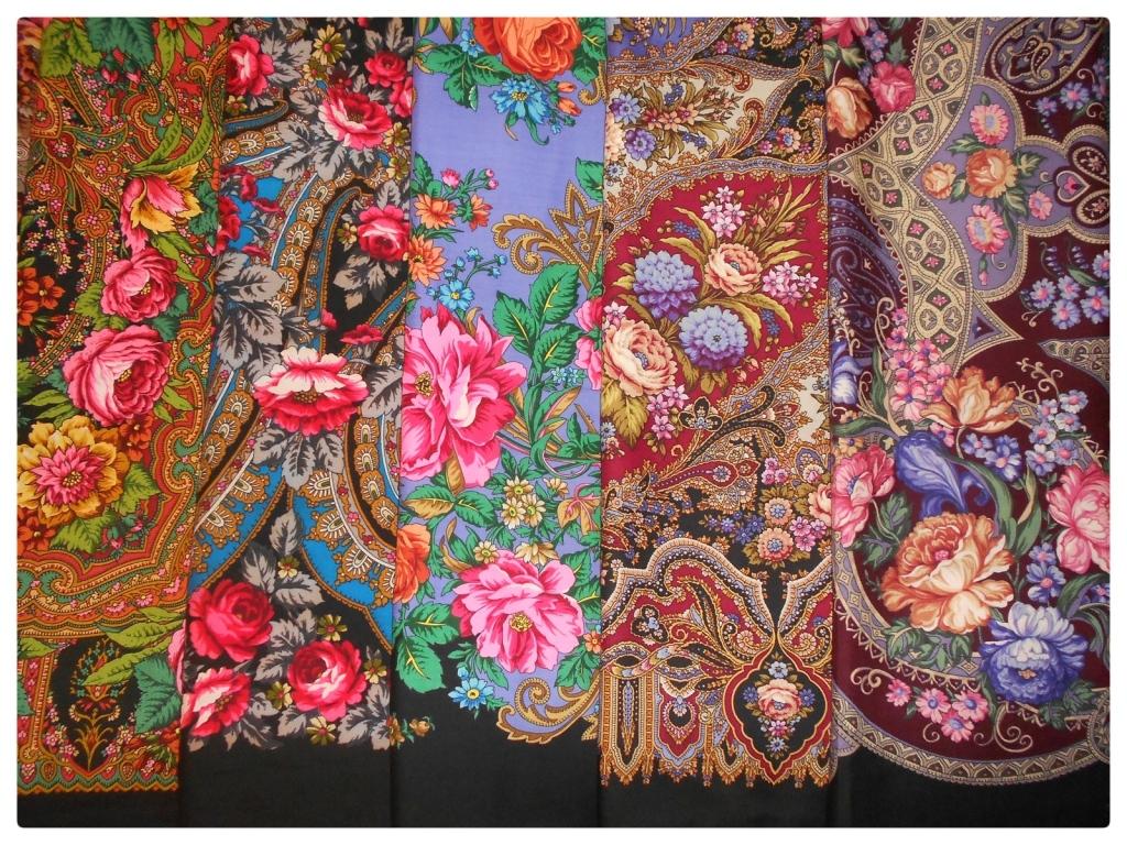 Pavlov Possad chale foulard artisanat souvenir art decoratif russe