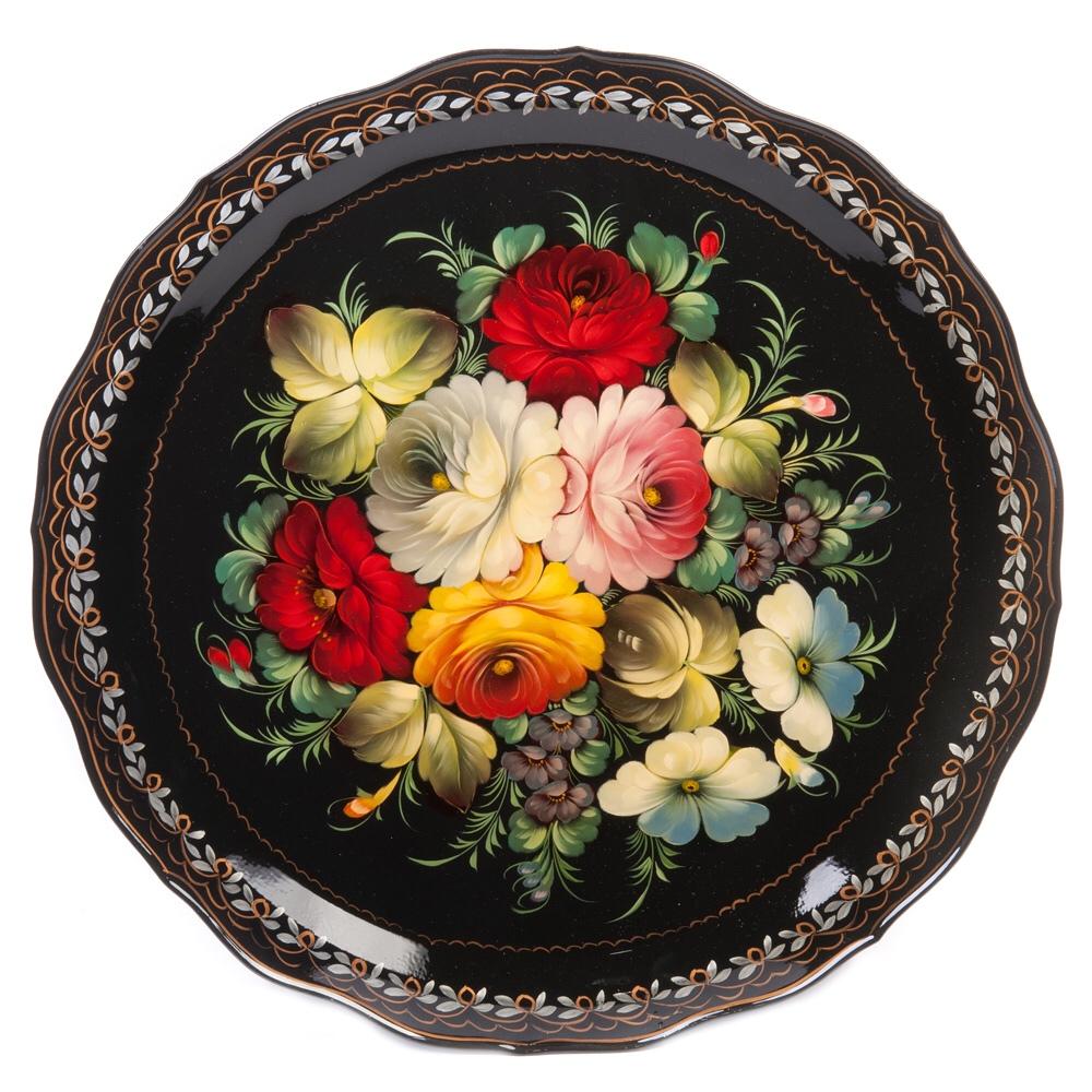 Jostovo peinture metal art decoratif russe Zhostovo