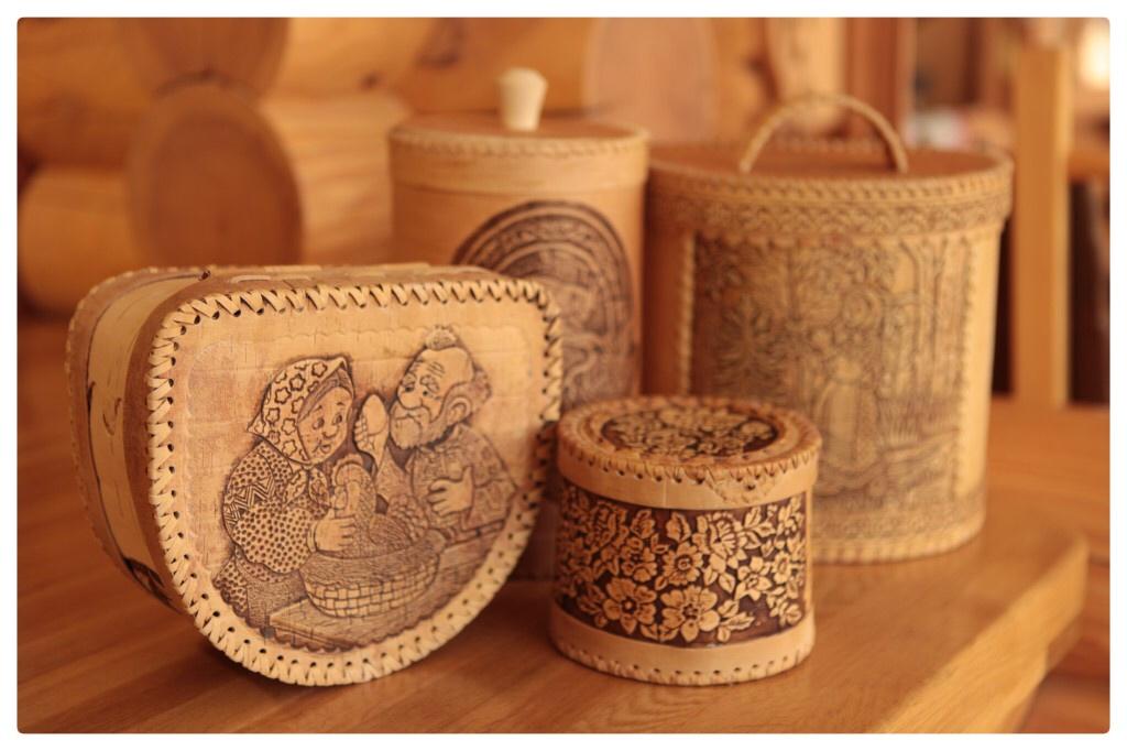Shemogod sculpture ecorce bouleau art decoratif souvenir russe