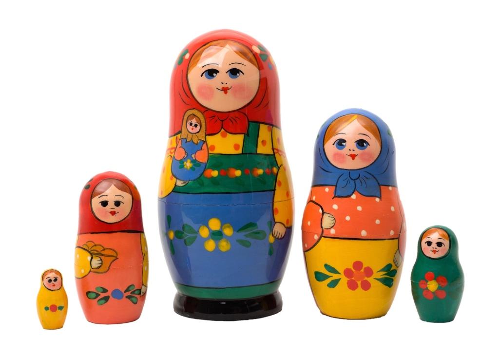 Matriochka traditionnelle serguiev possad zagorsk Moscou