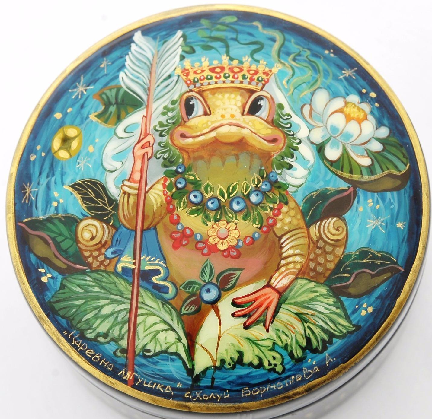 kholui art miniature laqué russe