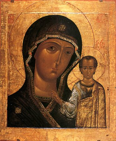 Mère de Dieu Kazanskaya icône orthodoxe miraculeuse