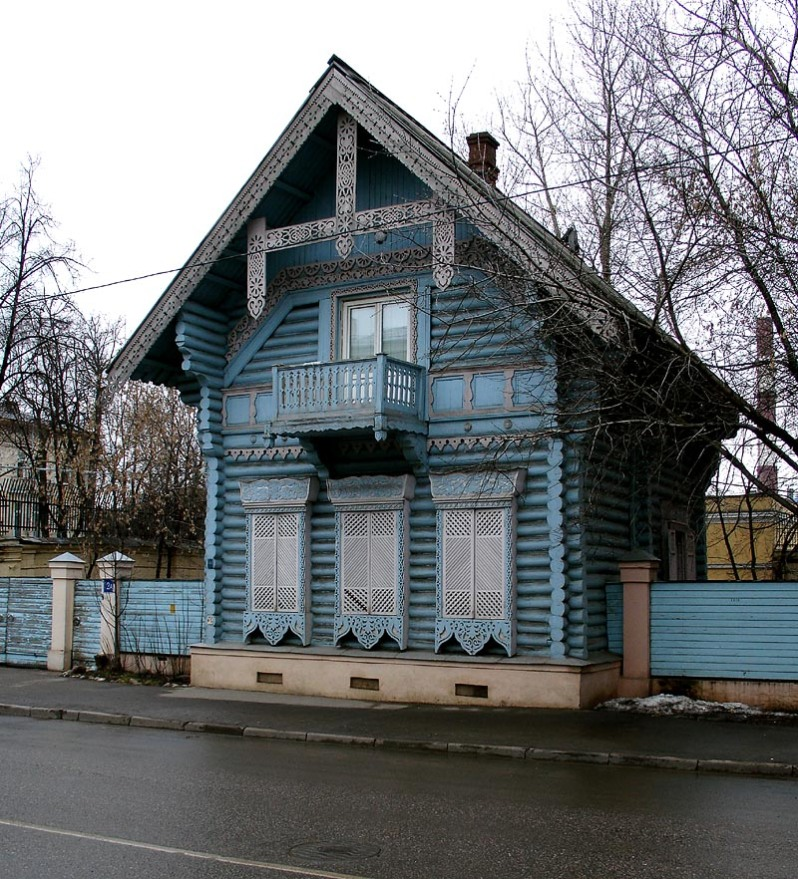 pogodinskaya izba Moscou Russie architecture pseudo-russe bois