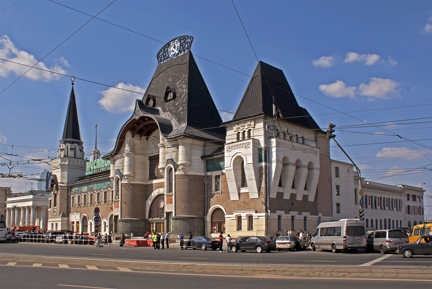 gare Yaroslavl Moscou Russie architecture pseudo-russe